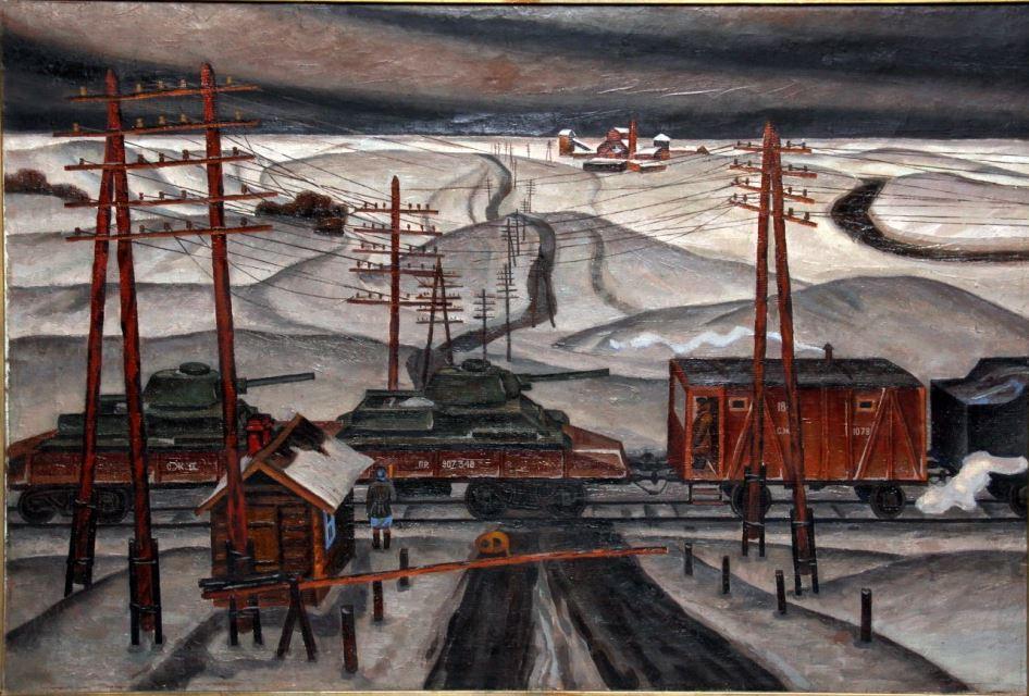 Г. А. Токарев. На фронт. 1977