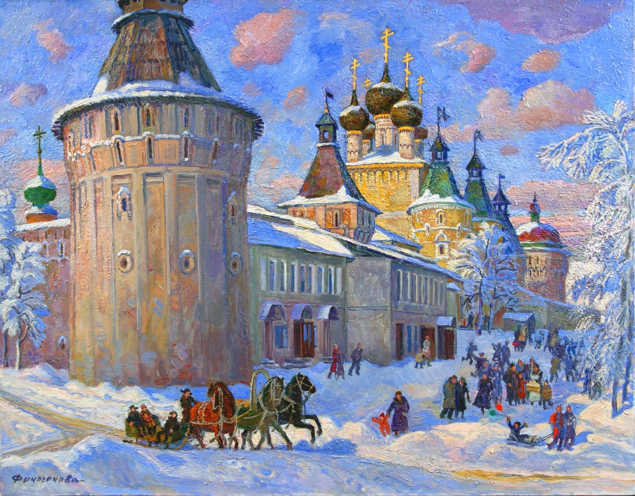 Млада Финогенова. Зимние праздники. 2003