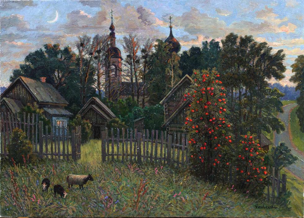 Млада Финогенова. Село Андреевское. 1989