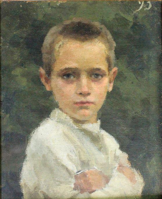 Блонская Серафима Иасоновна - Портрет мальчика Коли, 1893