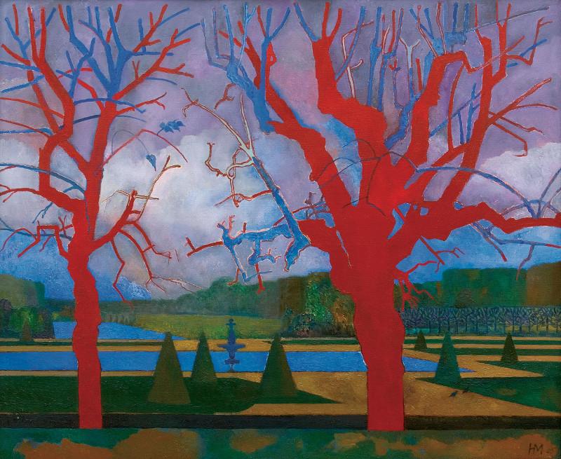 Никита Медведев -  Красные деревья. Фонтенбло, 2005
