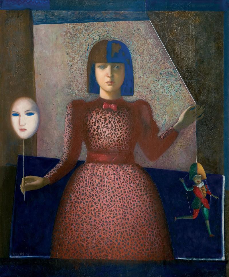 Никита Медведев - Портрет Лизы с маской, 1989–2008