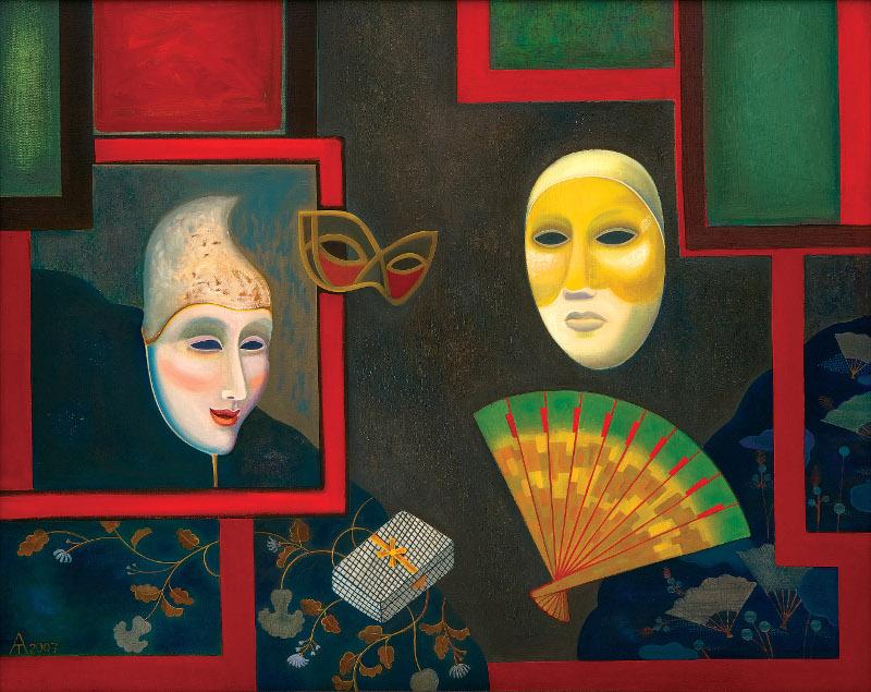 Татьяна Алексеева - Натюрморт с масками, 2007