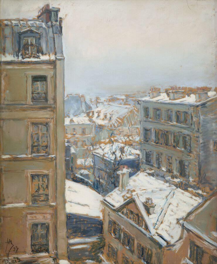 Якунчикова-Вебер М.В. Париж зимой. 1893