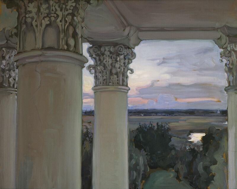 Якунчикова-Вебер М.В. Из окна старого дома. Введенское. 1897