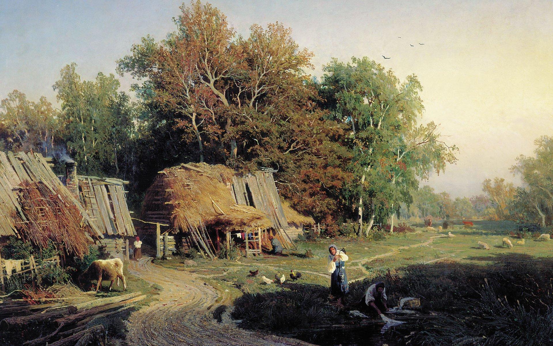 Федор Васильев. «Деревня», 1869