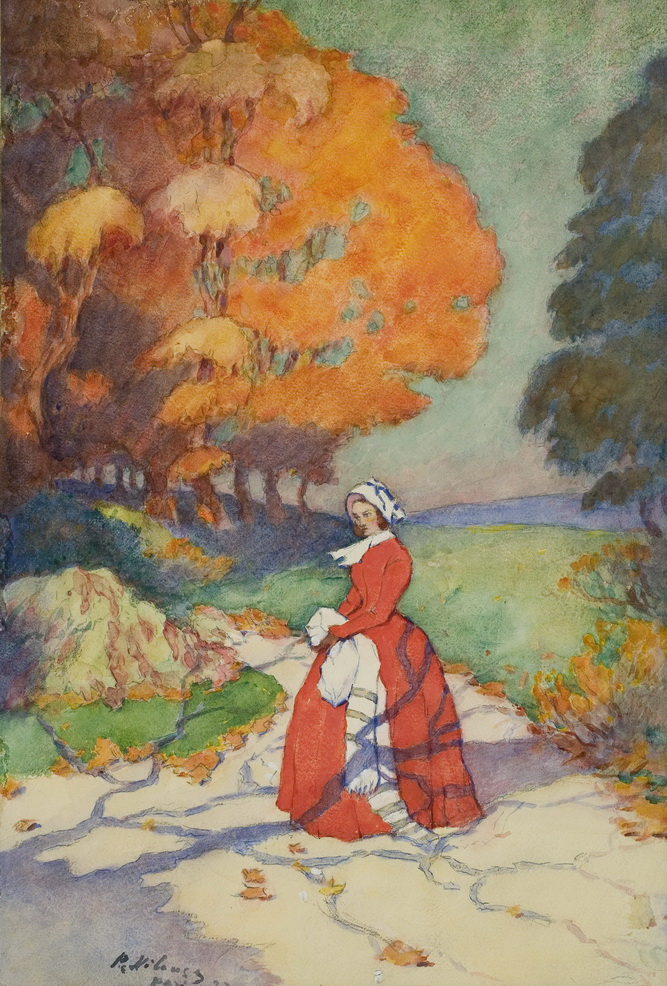 Петр Нилус - Дама в красном, 1925