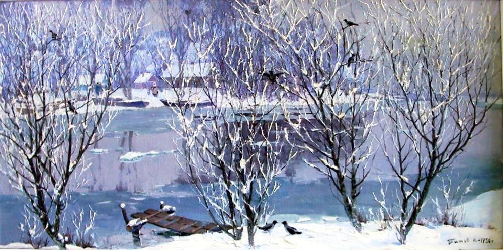 К.А. Титов - В низовьях Волги, 1980