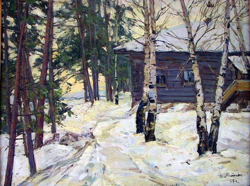 Т.П. Майкова - Зимка, 1955