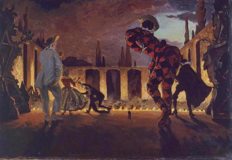 А.Н. Бенуа. Итальянская комедия. 1906