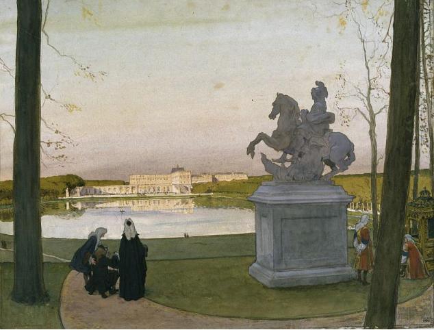 А.Н. Бенуа. Версаль. У Курция. 1897