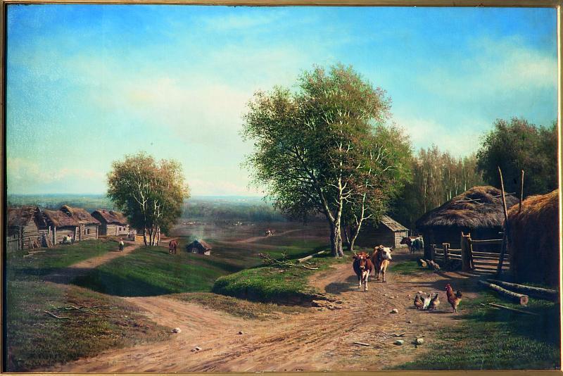 Михаил Константинович Клодт. Возвращение стада в деревню. 1870