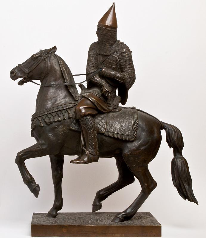 Петр Карлович Клодт. Русский воин в шишаке и кольчуге. 1851