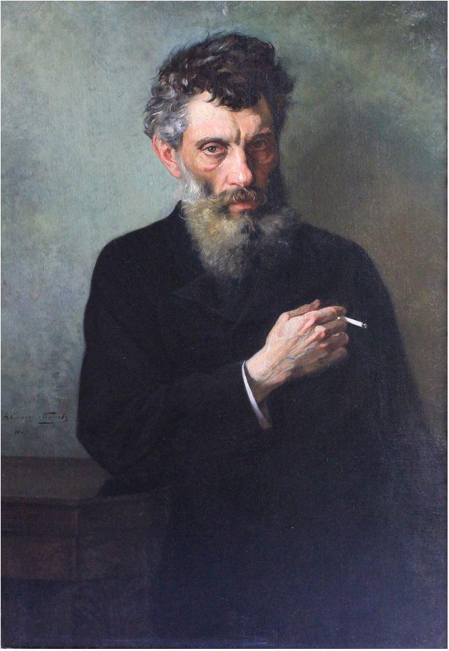 Синоди-Попов Дмитрий Минаевич (1846-1914) Портрет скульптора Л.Е. Егорова.