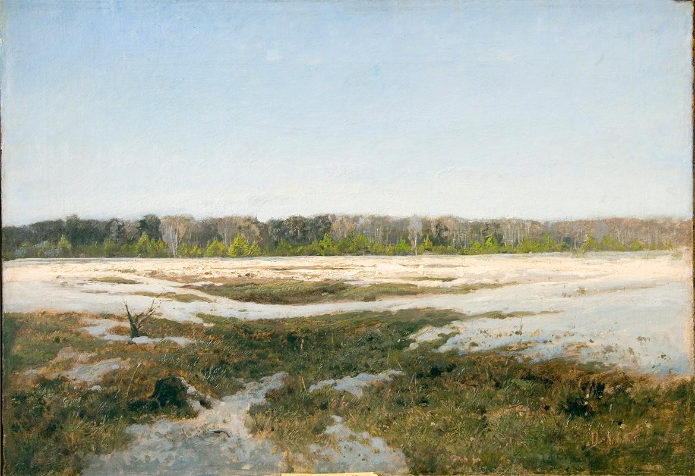 Левитан Исаак Ильич (1861-1900) Ранняя весна.