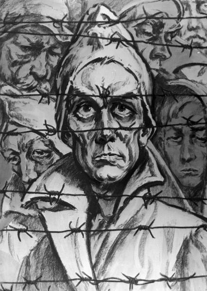 Евгений Кобытев - У колючей проволоки, 1964