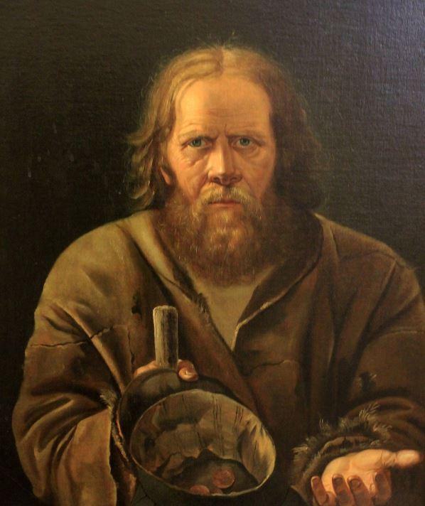 Неизвестный художник - Старик-нищий, 1857