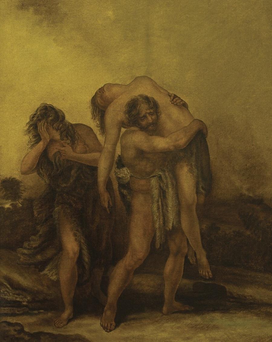 Карл Брюллов - Адам несёт убитого Авеля