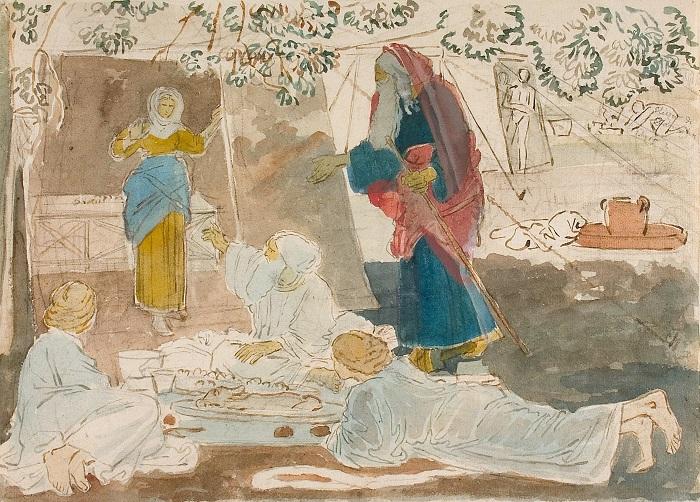 А.А. Иванов. Три странника возвещают Аврааму о рождении Исаака.