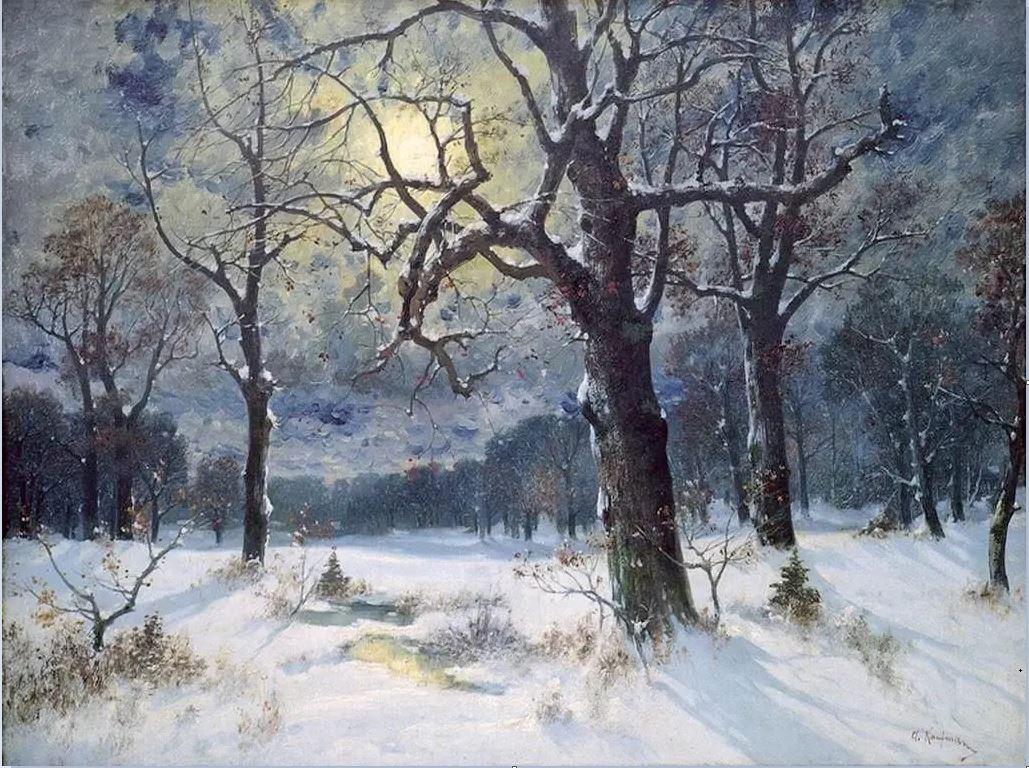 Адольф Кауфман - Зимний пейзаж