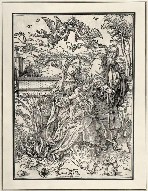 Альбрехт Дюрер - Святое Семейство с тремя зайцами