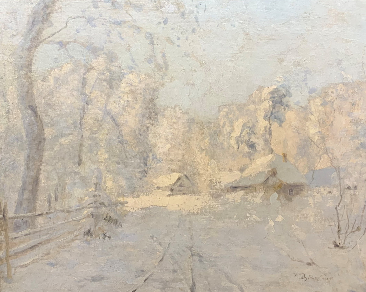 Дубовской Н.Н. Зимний пейзаж. 1895