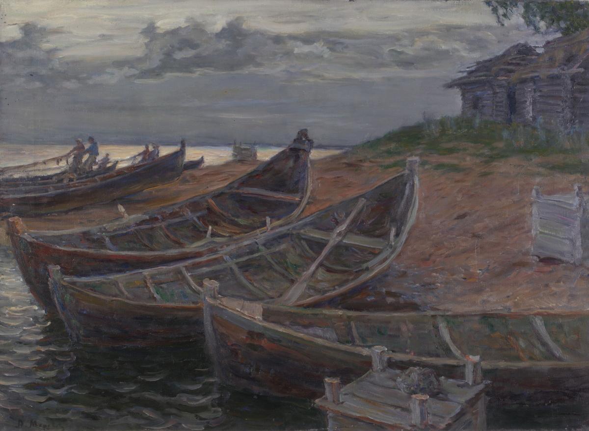 Моравов А.В. На северном озере. 1910
