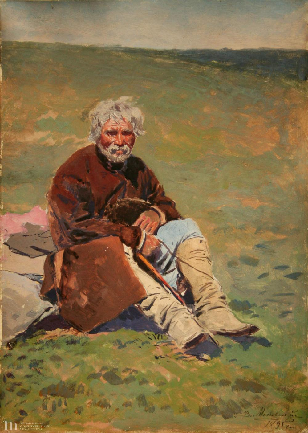 В.Е. Маковский - Крестьянин с кнутом. 1895