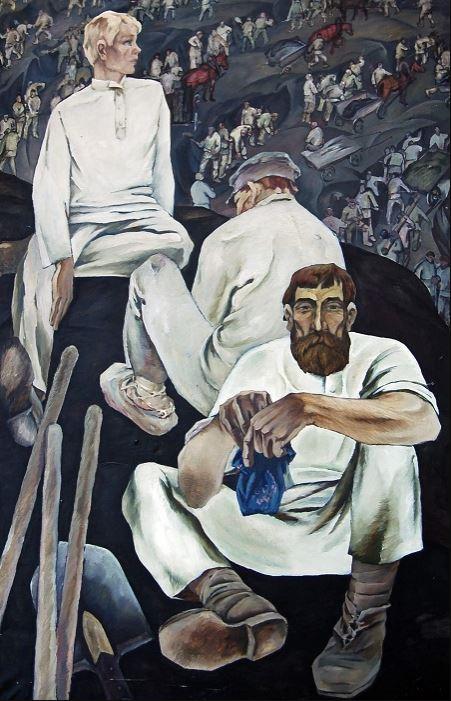 Иннокентий Кузнецов (1926–1976). Грабари на Кузнецкстрое. 1968