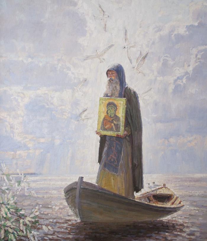 Николай Бурдастов - «Явление образа Богородицы Авраамию Галицкому на Чудском озере», 2012