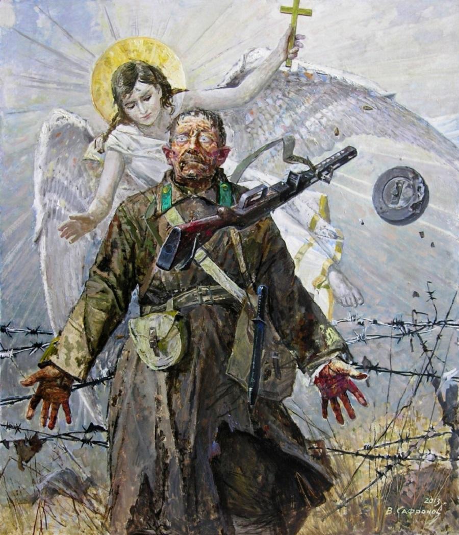 Виктор Сафронов - Явление ангела солдату, 2013
