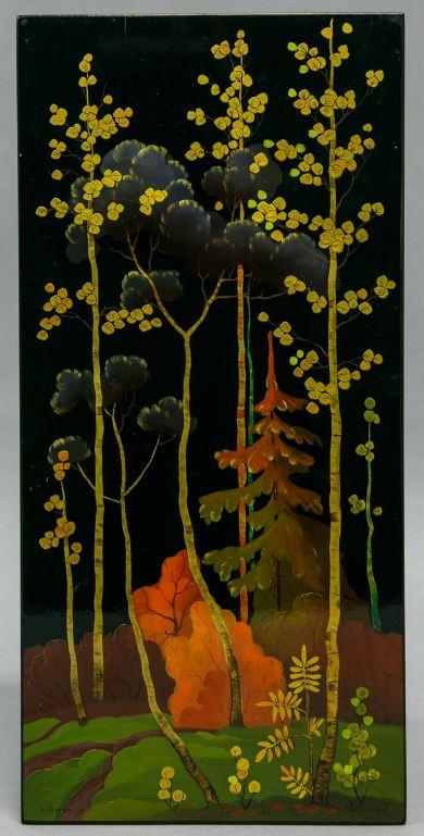 Панно «Лесной пейзаж». 1971Автор живописи И. А. Евмененко