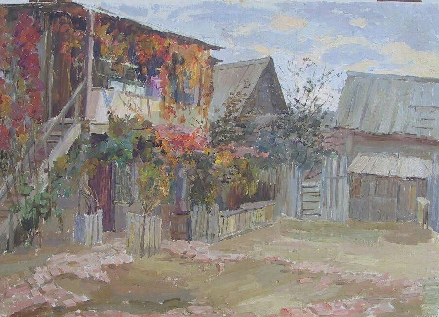 Давитьян Роза Александровна -Осень. Астраханский дворик