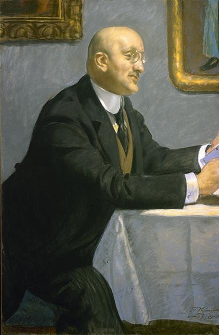 Б.М.Кустодиев. Портрет И.Э.Грабаря, 1916