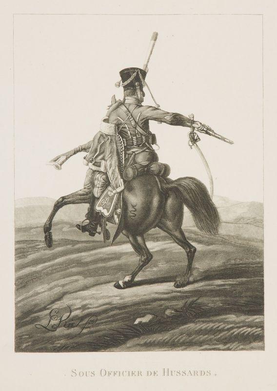 Л. И. Киль. -Унтер-офицер Гусарского полка. 1816.