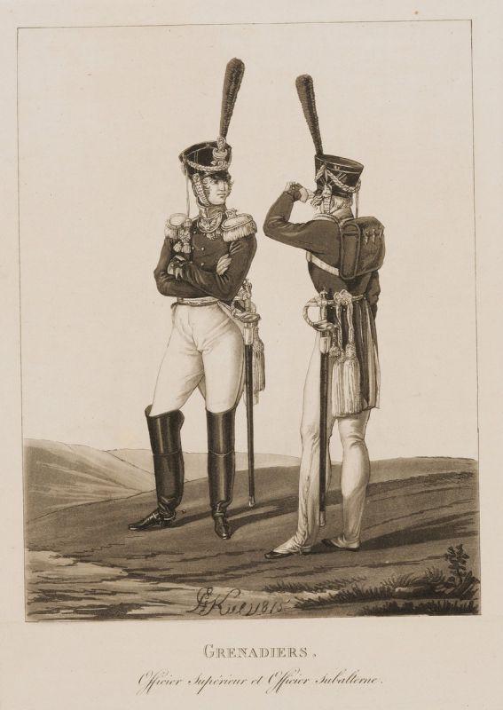 Л. И. Киль - Штаб- и обер-офицеры Гренадерского полка. 1815