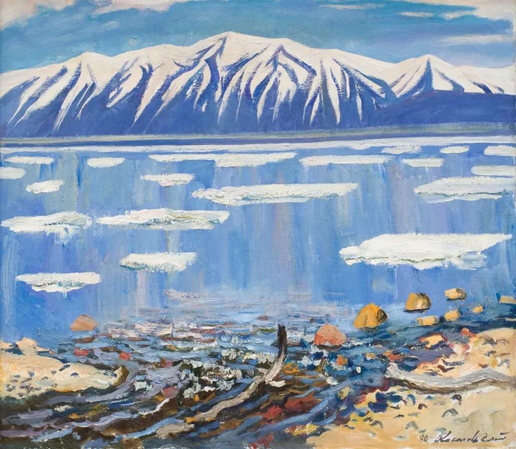 Анатолий Костовский - Весенний лед, 1981