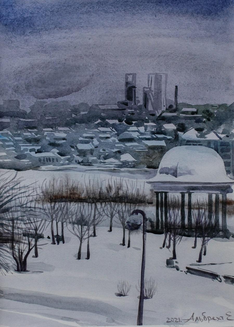 Елена Альбрехт - Вид на старый Донецк, 2021