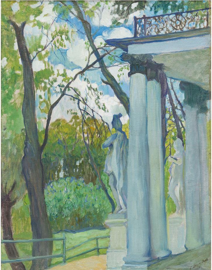 Делла-Вос-Кардовская О.Л. «Весенний день. В Царскосельском парке». 1907