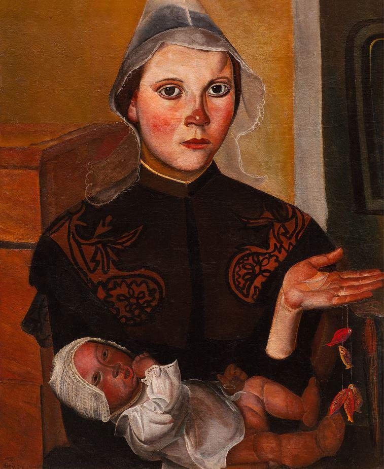 Григорьев Б.Д. Бретонская рыбачка с ребенком. 1923
