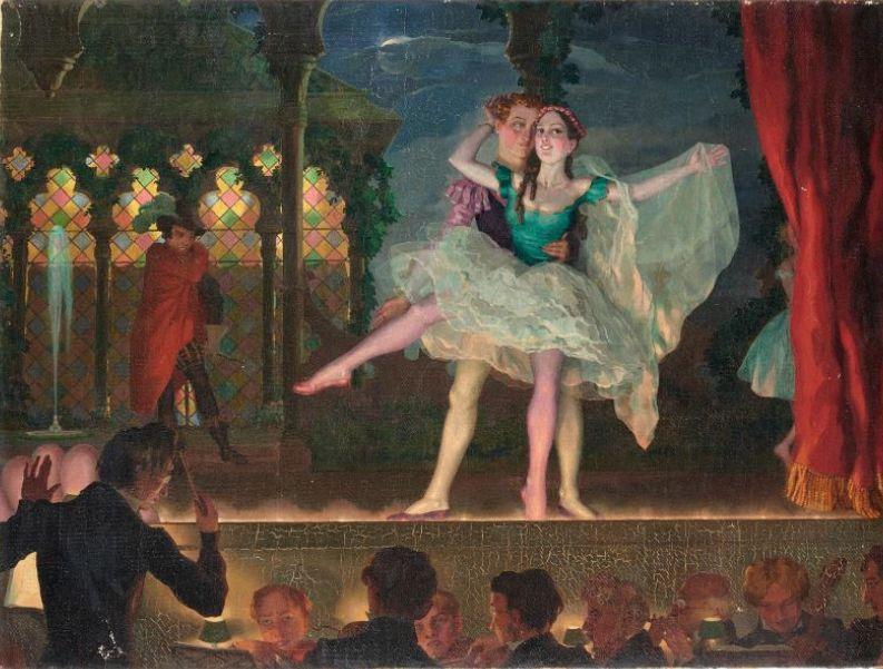 Сомов Константин. Старый балет. 1923
