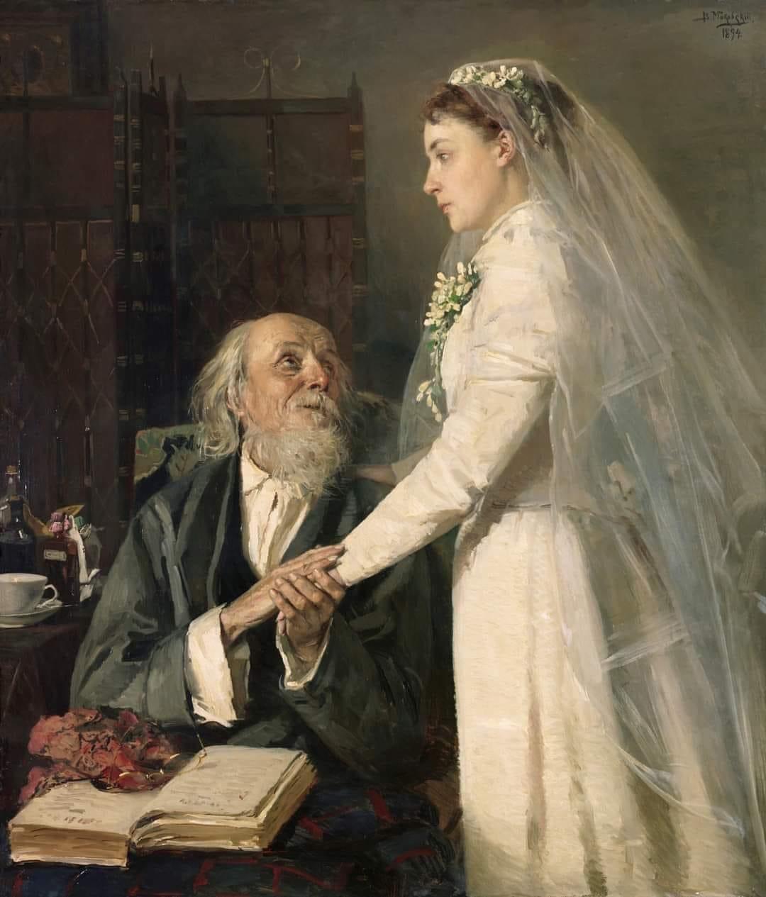 Владимир Маковский - К венцу. Прощание, 1894