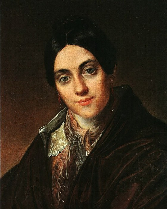 Василий Тропинин - Портрет Л.К. Маковской, 1830