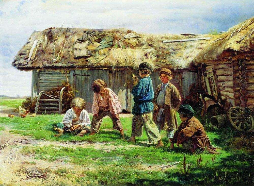 Владимир Маковский - Игра в бабки, 1870