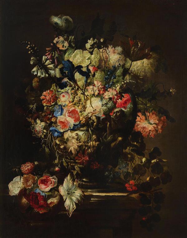 Жан Батист Моннуайе - Цветы, вторая половина XVII века