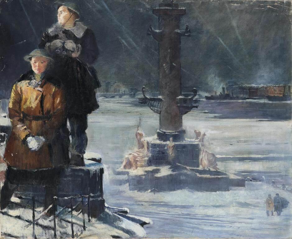Ю.И. Пименов - Ленинград. Стрелка Васильевского острова. Зенитчицы, 1942-1944