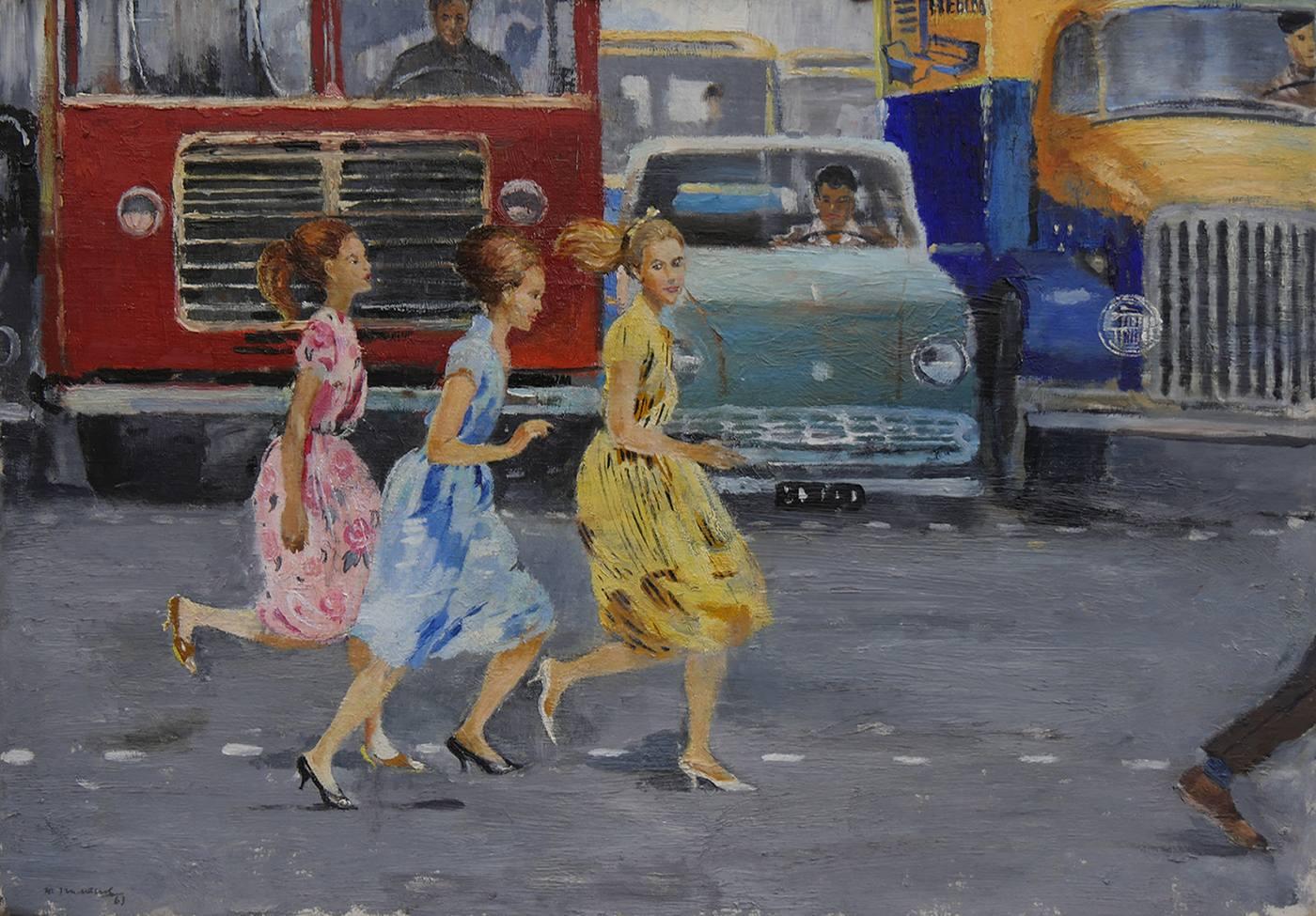 Ю.И. Пименов - Бегом через улицу, 1963