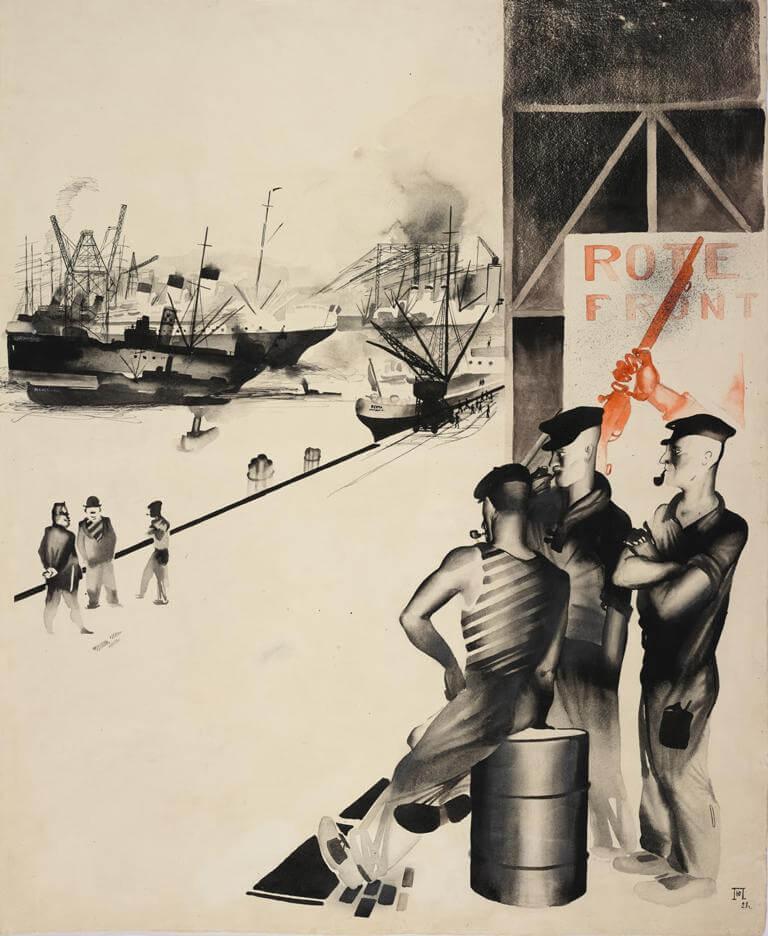 Ю.И. Пименов - Гамбург, 1928