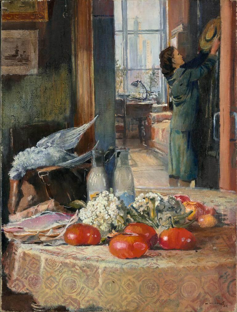 Ю.И. Пименов - Утренние покупки, 1951