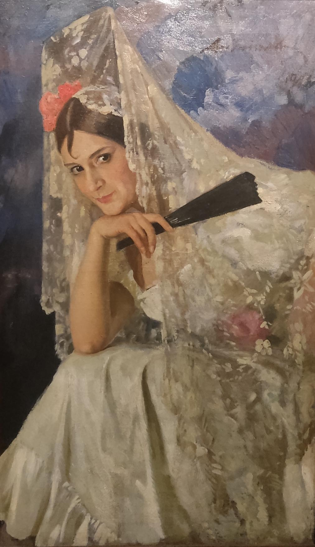 Любимов А. М. Портрет актрисы. 1923